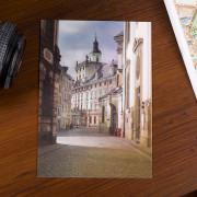 dzień i noc druk soczewkowy folia lentikularna zmienne pamiątki pamiątka widokówki wrocławskie polska Uniwersytet wrocław