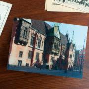ratusz piwnica świdnicka wrocław rynek wrocław dawniej dziś  soczewkowe druk soczewkowy folia lentikularna zamknięta linia tramwajowa pamiątki pamiątka widokówki wrocławskie polska